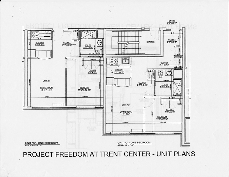 Project Freedom at Trent Center Floor Plan